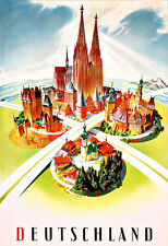 Art Ad  Deutschland German Travel   Poster Print