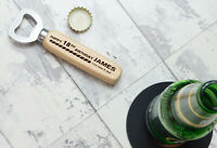 Personalised 18th 21st 30th 50th Birthday Wooden Bottle Opener Gifts for Him