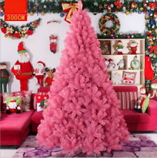 Pink 4 5 6 7 Feet Tall Christmas Tree Stand Holiday Season Indoor Outdoor Trees