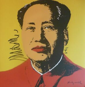 ANDY WARHOL MAO TSE TUNG SIGNED HAND NUMBERED ED 1974/2400 LITHOGRAPH 毛澤東 zedong