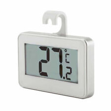2 x LCD Fridge Freezer Thermometer Frost Alarm Hanging Hook Magnet Stand UK