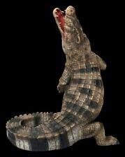 Gartenfigur - Krokodil | Tierfigur Statue Skulptur Dekofigur H 44 cm