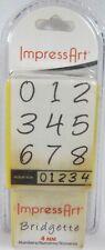 ImpressArt Bridgette Number Stamps 4 Mm Possibly Retired