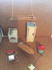 1960s Dolls House Laundry Room Bundle (airer 1990s)