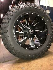 "20x10 -19 Cali Distorted Wheel Atturo 35"" MT Tire Package 5x5 Jeep Wrangler JK"