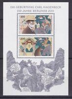 BRD 1993 postfrisch MiNr. Block 28  Carl Hagenbeck  150 Jahre Berliner Zoo