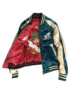 New Mens DragonTiger Embroidered Sukajan Souvenir Jackets Bomber Vermilion 2019