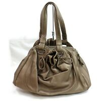 Authentic Bvlgari Hand Bag  Grays Leather 1206311