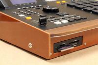 Akai MPC 2000XL Custom Black Modular with Brown Phenolic Bezel & Wood Wrist-Rest