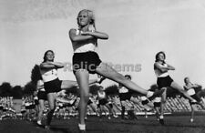 Ww2 Picture Photo German Bdm Young Women Of League German Girls In Stadium 1141