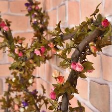 2.2m Artificial Silk Rose Flower Vine Wall Hanging Ivy Plants Home Floral Decor