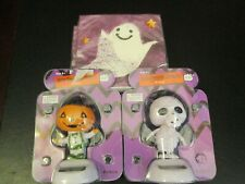 Halloween Party Decor, Solar Ghost and Pumpkin Figures, Ghost Napkins, New