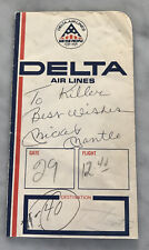 MICKEY MANTLE AUTO AUTOGRAPH SIGNED DELTA TICKET HOLDER BEST WISHES YANKEES JSA