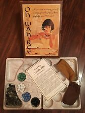 Oh-Wah-Ree 3M Bookshelf Vintage Board Game African Egyptian Marbles Pebbles 1962