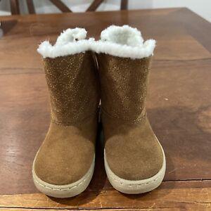 stride rite 6.5 kerri boot brown lined brand new