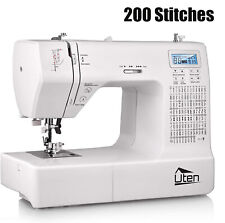 More details for electronic computerized sewing machine 200 stitches lcd 8 buttonholes household