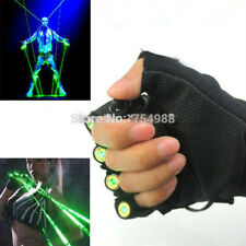 1Pcs Red Green Laser Gloves Dancing Stage Show Light With 4 pcs lasers and LED