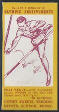 COMET SWEETS-OLYMPIC ACHIEVEMENTS PACKAGE ISSUE-#14- POLE VAULT - BOB RICHARDS