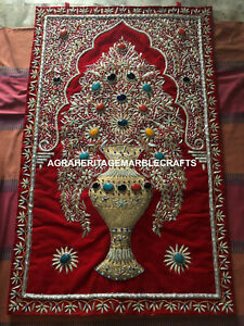 Home Persian Kashmiri Handmade With Using of Precious Zari Wall Hanging M123