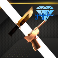 💎ROBLOX💎 Unique Corrupt and Golden Luger Set Godly Knife MM2 Murder Mystery 2