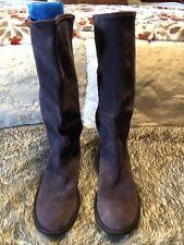 Carlos Purple Leather Super Soft Tall Boots EUC Size 11M