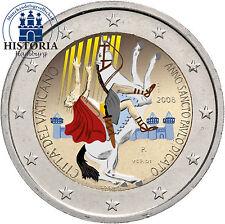 Vatikan 2 Euro Gedenkmünze 2008 bfr. Paulusjahr in Farbe