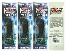 "(3) Vicious Fishing Topwater 3"" VF Frog 3/4 Oz. Shad VF70-S Brand New"