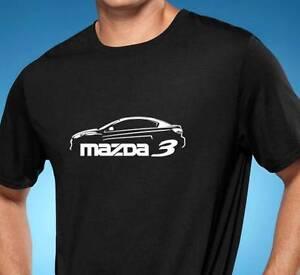 Mazda 3 Classic Design Car Tshirt NEW FREE SHIPPING