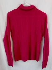 QUO.TA.TION Women's 100% 2 Ply Cashmere  Pink Long Sleeve Sweater Size Small