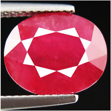 6.71ct 100% natural earth mined extremely rare aaa pinkish red color ruby