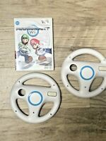 Nintendo Wii Mario Kart and TWO OEM Wheels - Super Clean - Complete w/ Manual