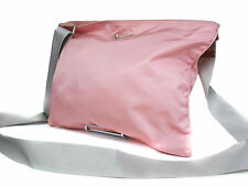 Authentic PRADA Nylon Canvas Pink Cross- Body Shoulder Bag PS13512L