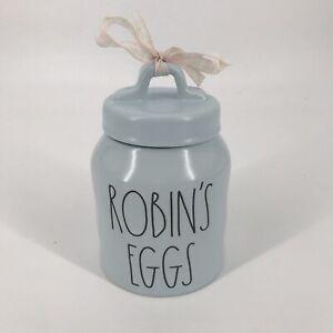 Rae Dunn Robin's Eggs Blue Canister Easter 2021 Ceramic Jar NEW by Magenta