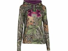 UNDER ARMOUR Women's Mossy Oak Camo Storm ColdGear Big Logo Hoodie Sz M $74.99NT