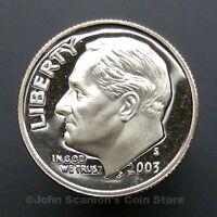 2003-S Roosevelt Dime - Gem Proof Deep Cameo U.S. Coin