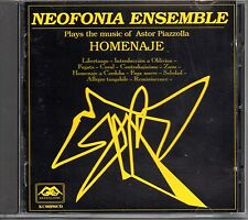 Neofonia Ensemble – Homenaje - The Music Of Astor Piazzolla  Cd Mint 1996