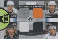 Kopitar/Richards/Carter/Williams 2013-14 SP Game Used Authentic Fabrics Quad