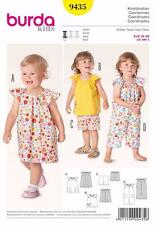 BURDA KIDS SEWING PATTERN Cute airy summer outfits girls 6M-3 9435 SALE