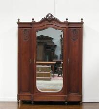 Large 3 Door Antique French Louis XVI 3 Armoire Wardrobe
