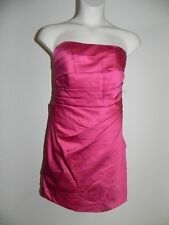 Davids Bridal Dress Plus Size 24 Watermelon F14212 Pink Strapless Bridesmaid NWT
