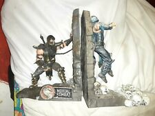 mortal kombat sub zero and scorpions book end collectables