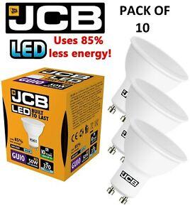 LED DOWNLIGHT BULBS 10X GU10 5W = 50W DAYLIGHT 6500k BY JCB ENERGY SAVING