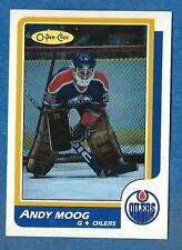 1986-87 O-Pee-Chee (Blank Back) #212 ANDY MOOG (ex-mt) Edmonton Oilers
