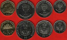 Haiti set of 4 coins: 5 centimes - 1 gourde 1995-2011 UNC
