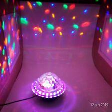 SFERA MAGICA LUCI LED DISCOTECA DJ  MULTICOLORE USB SD CARD MP3 BLUETOOTH FESTA