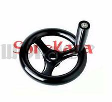 "3 Spoke Hand Wheel 6.2"" Diameter Black with Revolving Handle for Milling Machine"