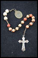 † BLESSED ST PHILOMENA 16 BOVINE BEADS RELIQUARY PRIEST NUN'S ROSARY CHAPLET †