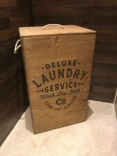 Rustic Wooden Laundry Crate / Washing Basket - Free Postage