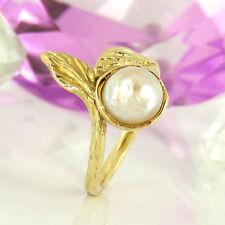 Unbehandelte Ringe mit Perlen für Damen (17,2 mm Ø) 54