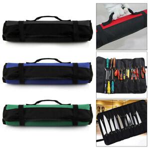 Chef Knife Roll Carry Bag+22Pockets Knife Storage Case Kitchen Portable Storage